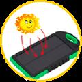 Power Bank на солнечных батареях.