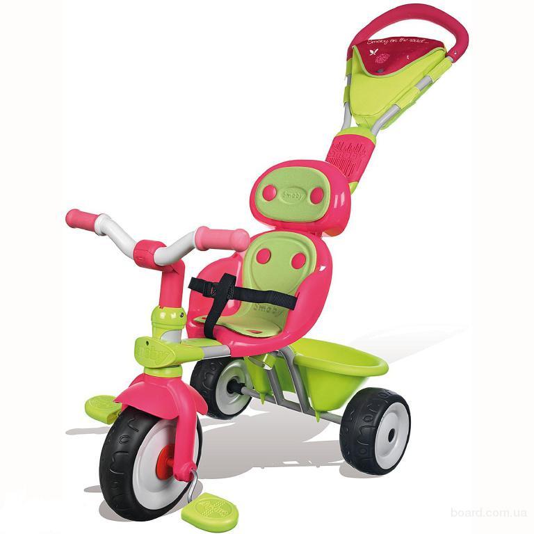 Велосипед трехколесный металлический Baby Driver Confort Sport Fille Smoby 434118
