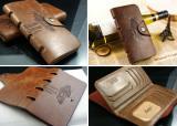 Мужское кожаное портмоне бумажник Bailini Long кошелек!
