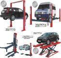 Подъемники автомобильные для СТО 1- 2-х 4-х стоичные ножничные мотоцклетные 2-80т для легковых и грузовых автомобилей.