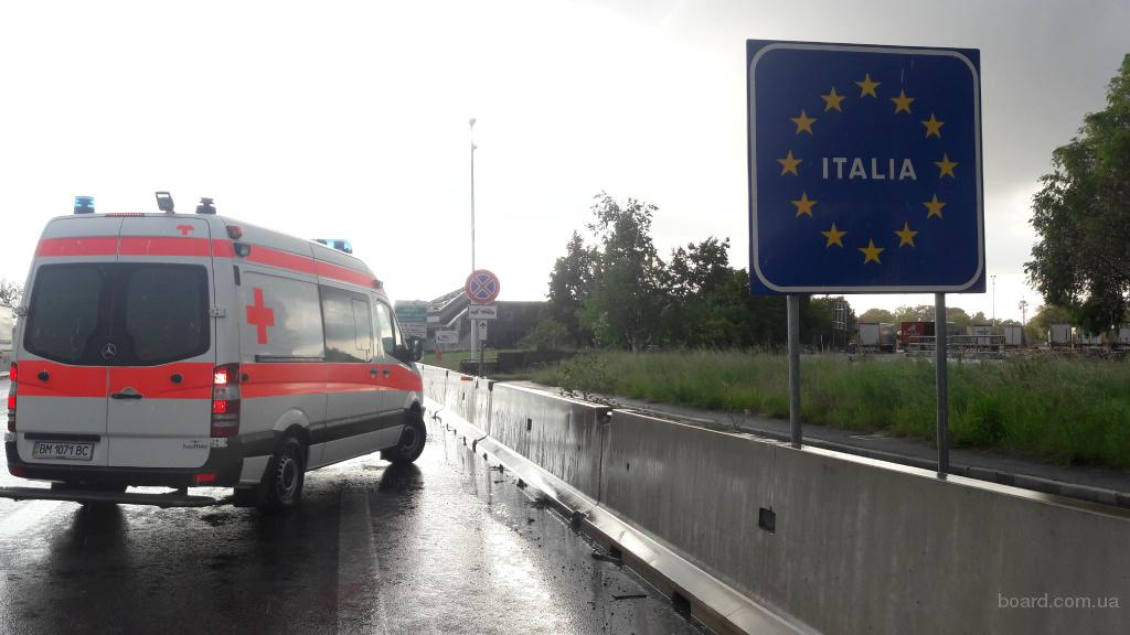 Перевезти хворого з Риму, Італія в Україну швидкою медичною допомогою ( реанімобілем). Транспортувати хворого швидкою  допомогою з Італії в Україну.