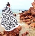 Пляжный коврик Мандала. Черный 150-160см