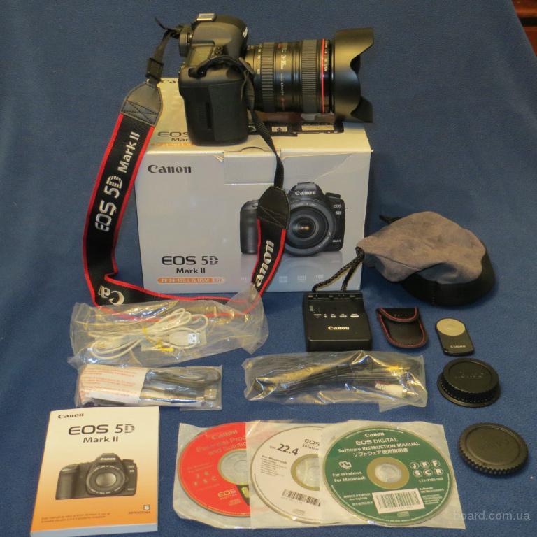 Цифровая зеркальная камера Canon EOS 5D Mark II 21.1MP