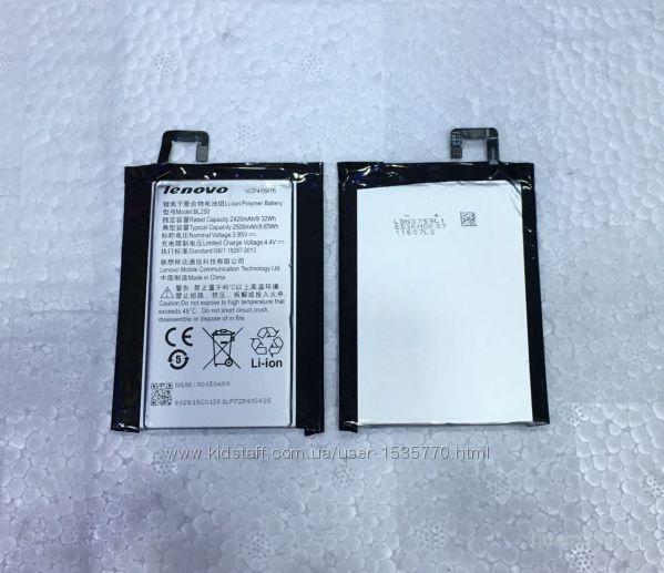 Аккумуляторная батарея   Lenovo Vibe S1  bl- 250   Аккумулято BL250   Батарея Li-Ion Polymer емкостью 2420 мА/час  • напряжение 3.85V  • мощность 9.3