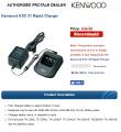 Зарядное устройство KSC 31 для радиостанций Kenwood ТК-2260/ TK2206 / TK3206