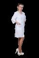 Халат медицинский женский белый, габардин. длинный рукав