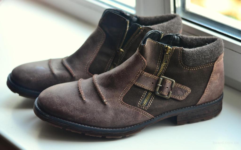 Мужские ботинки Rieker, кожа/шерсть, 31 см