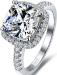 Серебряное женское кольцо с фианитиом