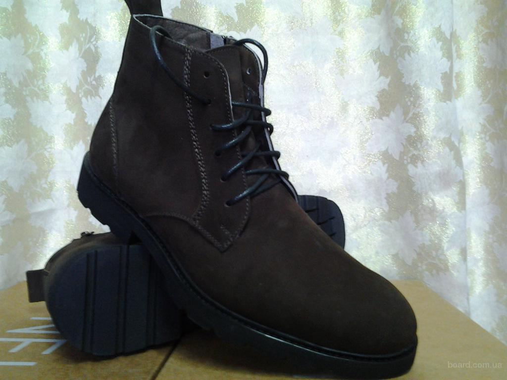 Мужские демисезонные ботинки коричневые Lioneli(Faro)