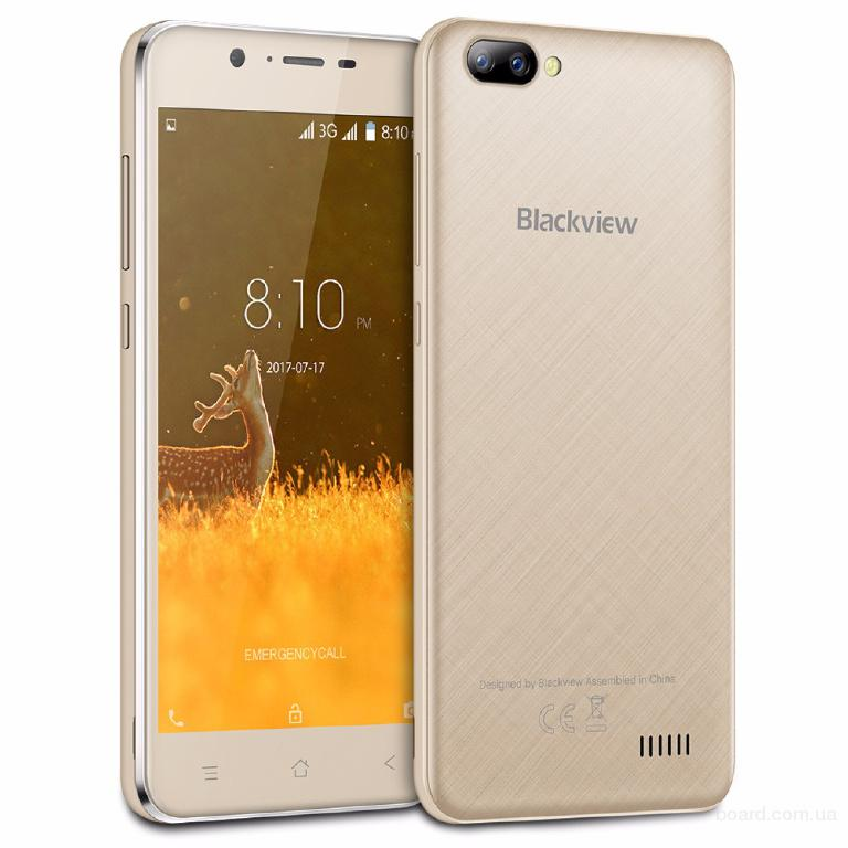 Смартфон Blackview A7 Телефон White / Белый Gold / Золото 4 ядра + Подарки