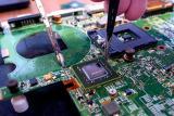 Замена видеокарты ноутбука (BGA - микросхема) в Красноярске.