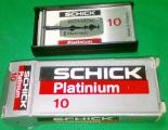 Лезвия для бритв Schick Platinium Made in Holland 20 упаковок по 10шт.