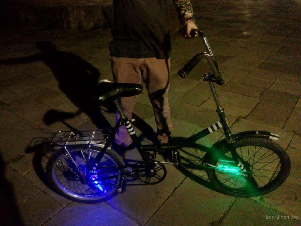 7264bc6f69cb Легендарный Уникальный Ретро Велосипед BMX Складной с крутой ночной  подсветкой аренда (продам)