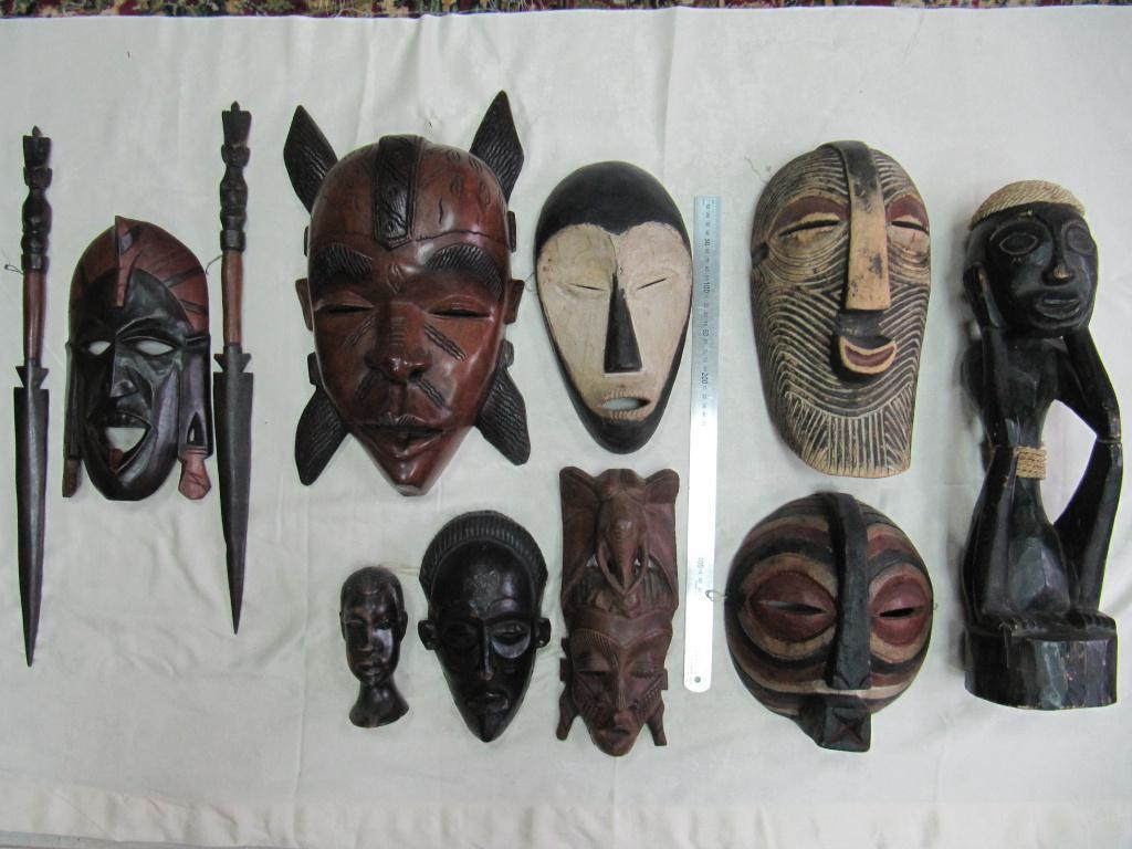 африканские маски из папье маше с фото новосибирске, продажа новых
