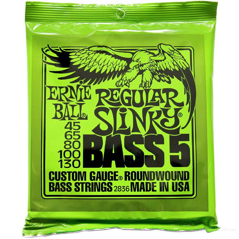 Струны бас Ernie Ball 2836 Regular Bass 5-String 45-130