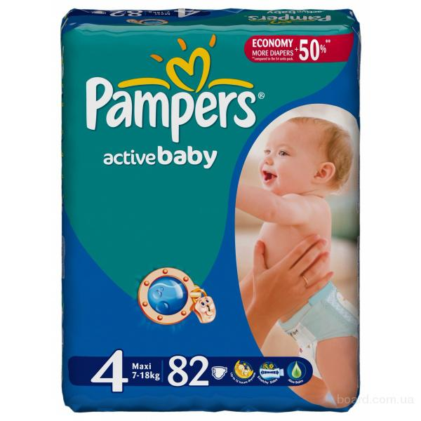 Оптом памперсы pampers active babe giant pack