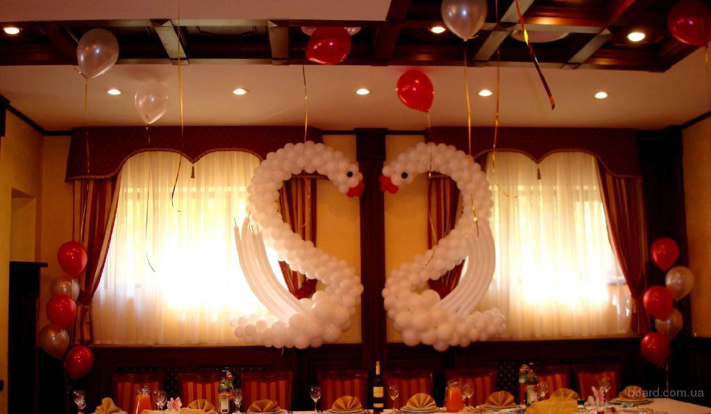 Украшение свадебного зала воздушными шарами предлагаю в Киев, Украина. цена договорная - Праздничное оформление интерьера на con
