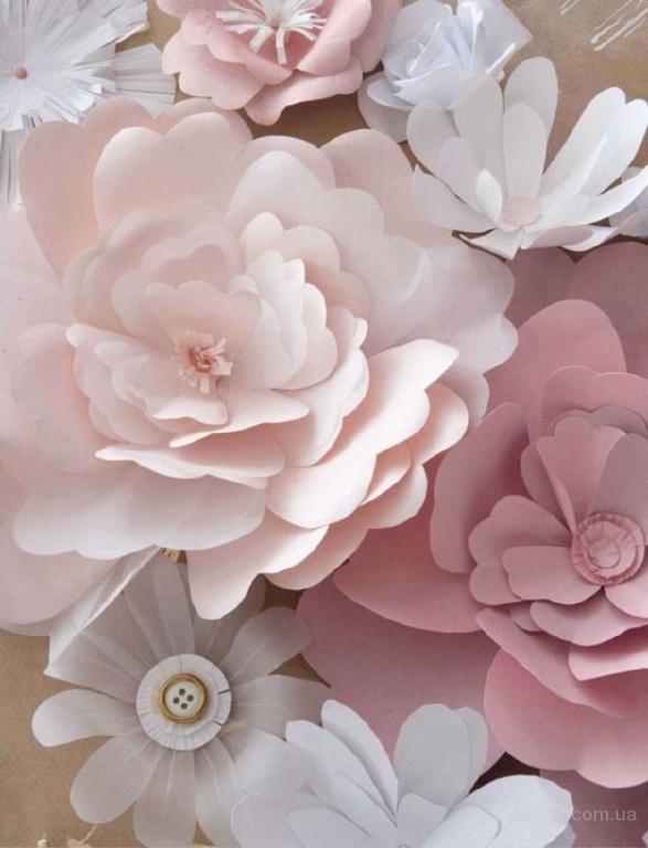 a8bdc9d14f1ec Цветы из бумаги для оформления праздника,свадьбы,день рождения,витрины ,салона,