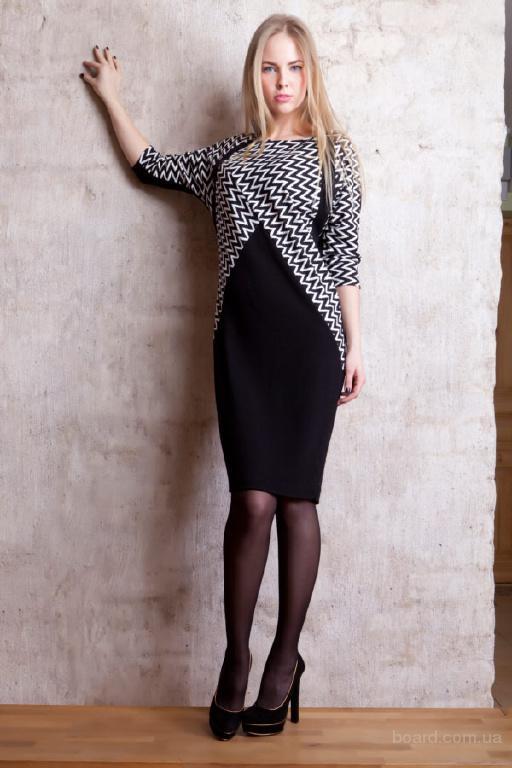 843296b42f2 Строгое черное платье прямого покроя - продам. Цена 540 грн. купить ...