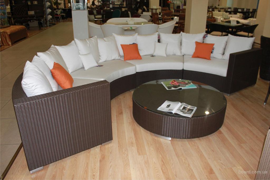 радиусный круглый диван из ротанга продам цена 101 грн купить