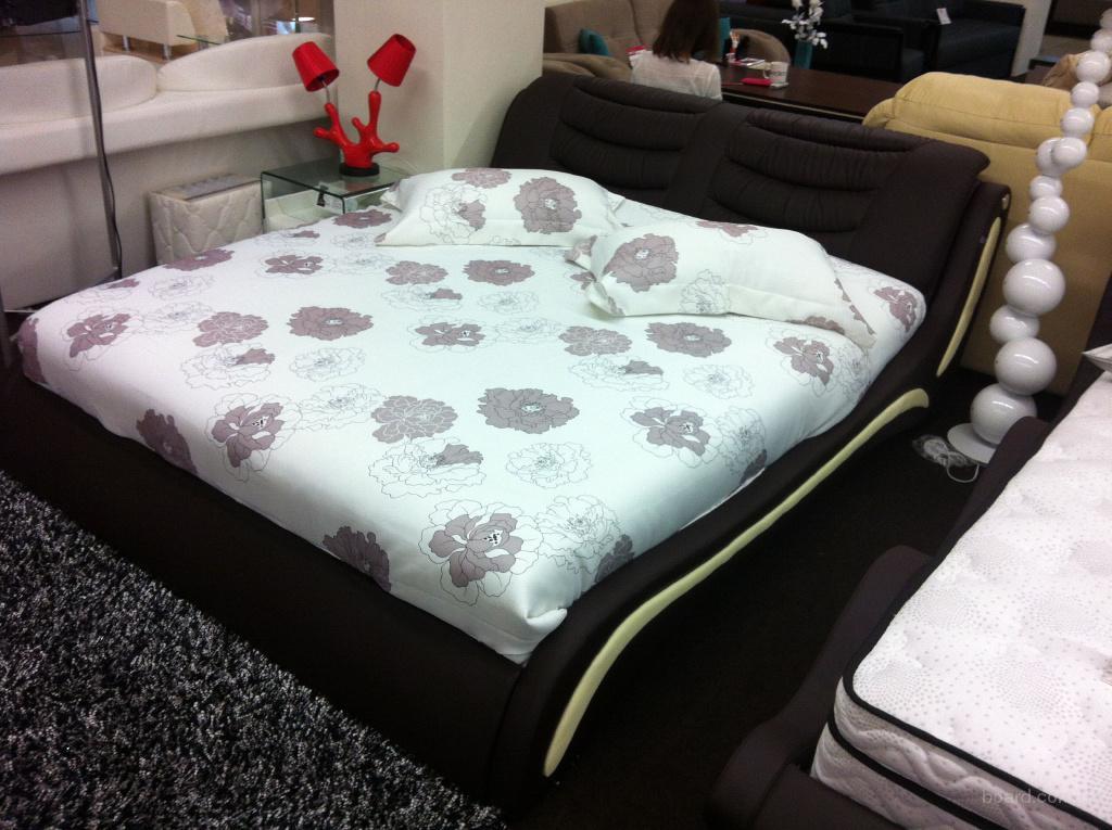 красивые кровати кожаные кровати Sonata Möbel соната мебель