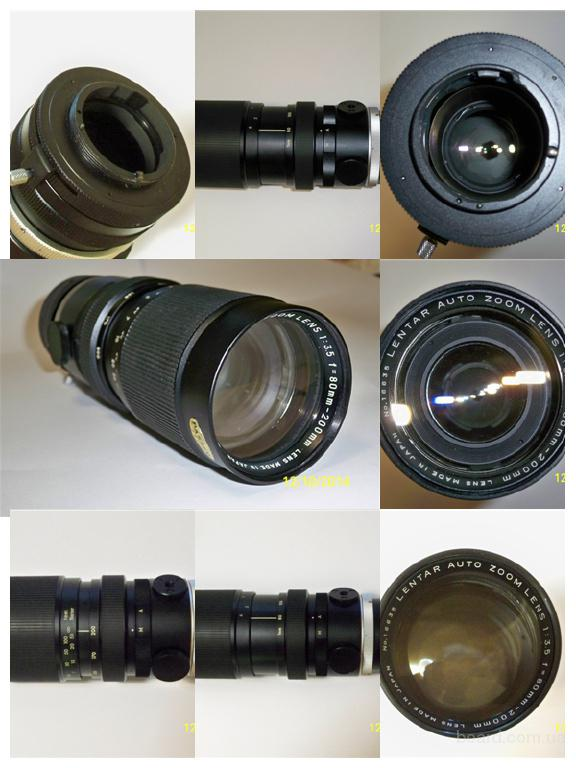Lentar Auto Zoom Lens 1:3.5 f=80-200 mm. Made in Japan. Pentax M42