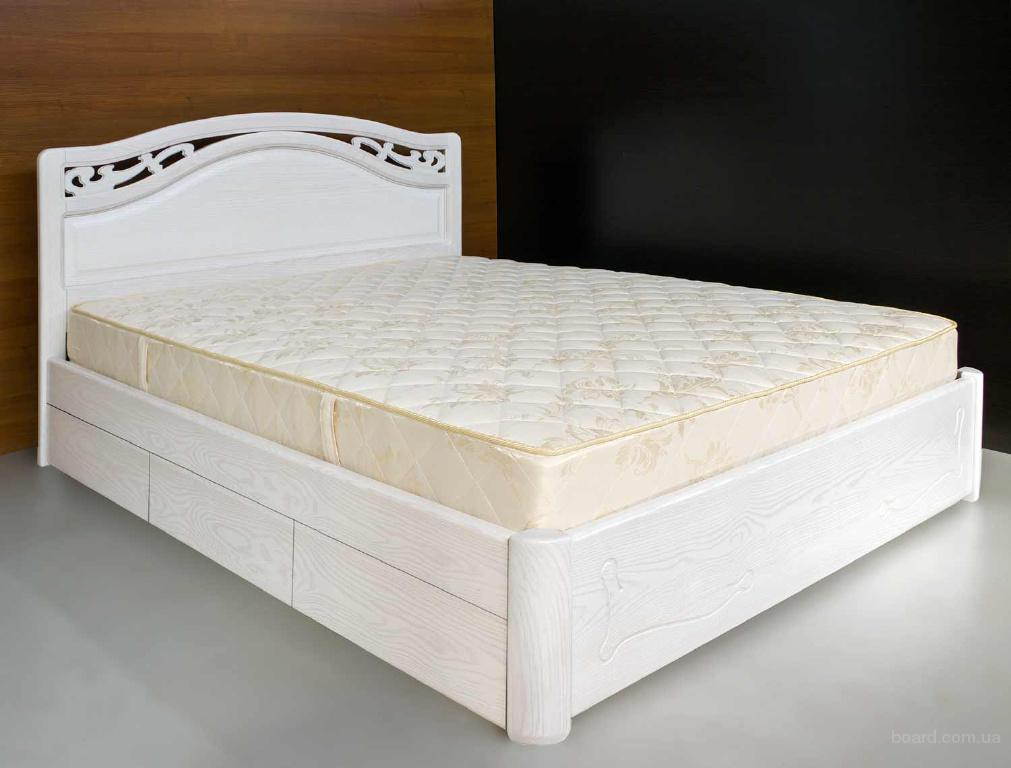 элитная деревянная двуспальная кровать марго с ящиками продам