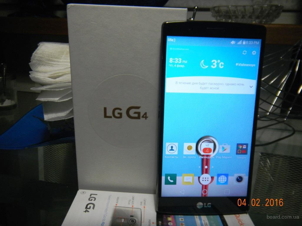 LG G4 H810(H811) 32 Gb, Metallic Gray/Leather black