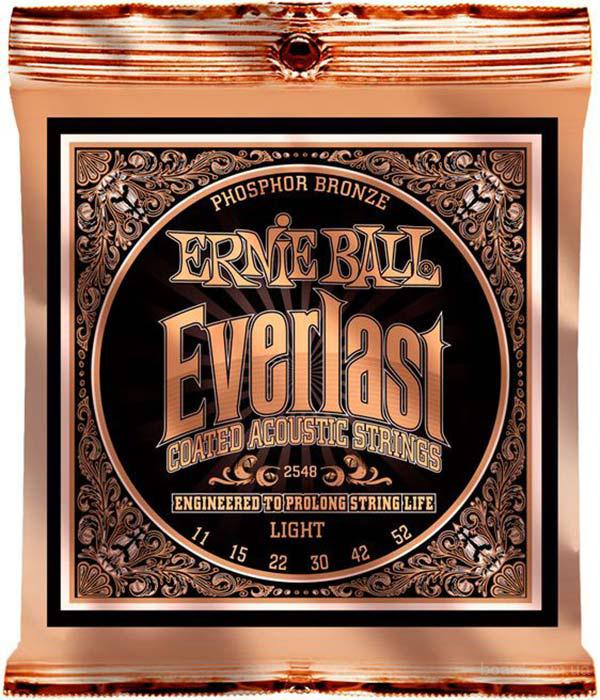 Струны Ernie Ball Everlast Coated Phosphor Bronze 2548 11-52 Light