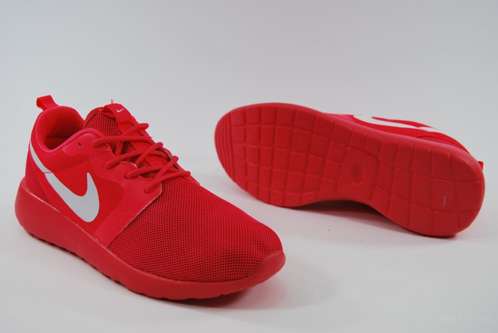 31133def Красные женские кроссовки Найк Nike Roshe Run Роше Раны на лето ...