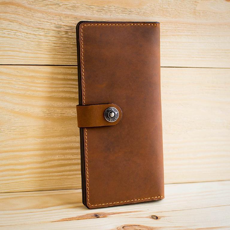2d8c2b89fc59 Мужской кожаный кошелек ручной работы